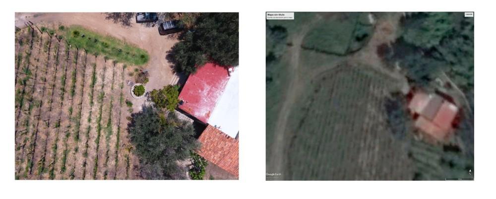 casita ejemplo drone